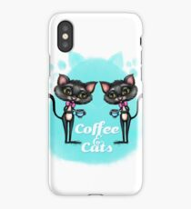 Coffee and Cats iPhone Case/Skin