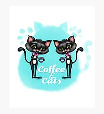 Coffee and Cats Photographic Print
