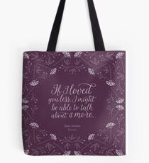Jane Austen Emma Floral Love Quote Tote Bag