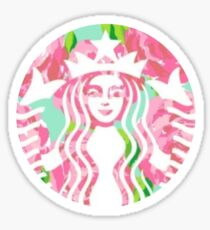 Floral Starbucks Sticker