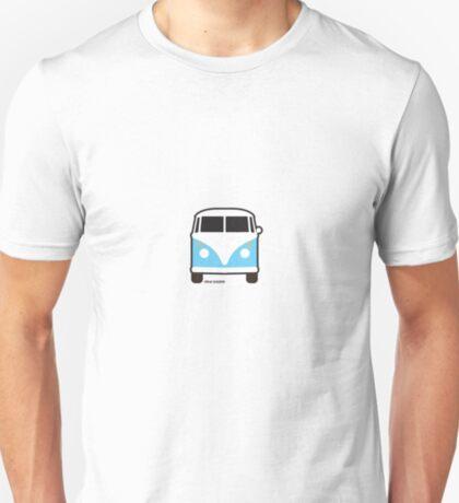 Split VW Bus Front Blue Hippie Van T-Shirt
