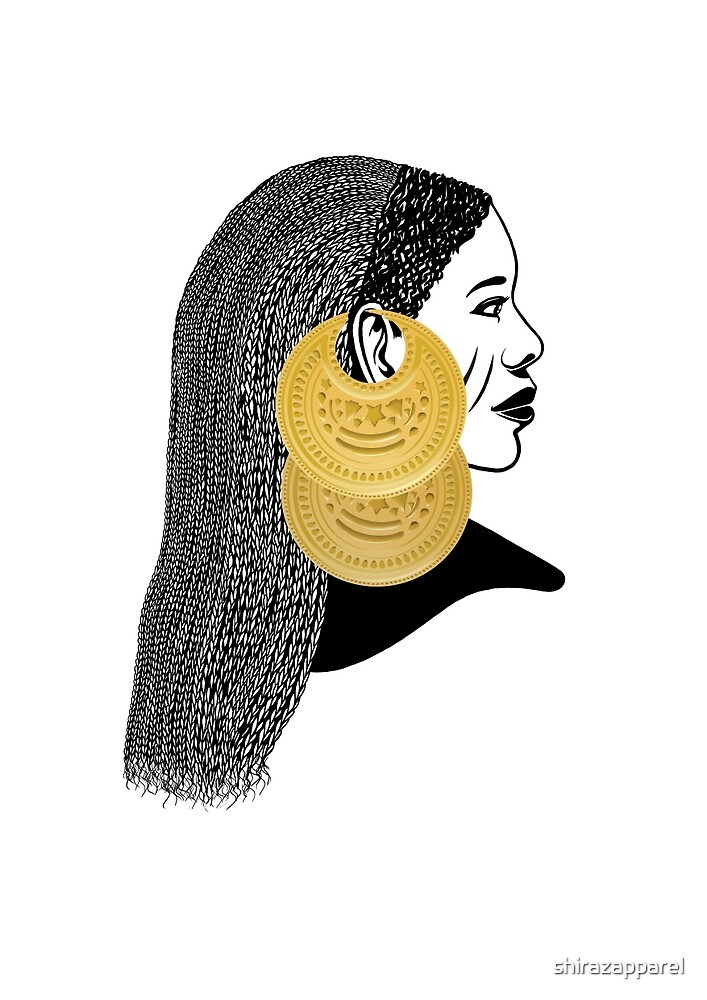 Girl with القمر بوبا earrings by shirazapparel