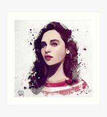 Emilia Clarke Art Print
