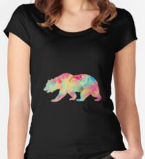 Abstract Bear Women's Fitted Scoop T-Shirt