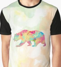 Abstract Bear Graphic T-Shirt