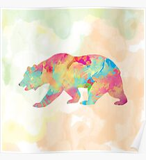 Abstract Bear Poster