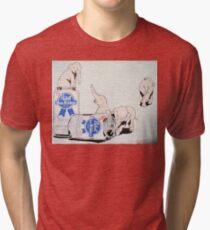 Pink Elephants Make You Think! Tri-blend T-Shirt