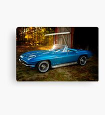 66' Barnyard Corvette Canvas Print