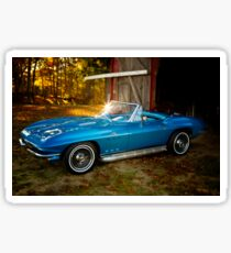 66' Barnyard Corvette Sticker