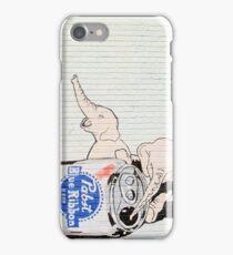 Pink Elephants Make You Think! iPhone Case/Skin