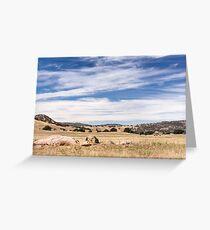 Dry meadows near Julian, CA Greeting Card