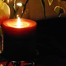 Burgandy Candlelight Glow by HeavenOnEarth