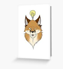 Fox Face White Greeting Card