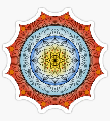 World On Fire Mandala Sticker