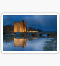 bunratty castle at night Sticker