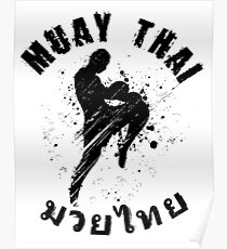 Cool Muay Thai Shirt for any nak muay Poster