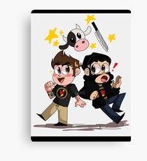 Anime CowChop Canvas Print