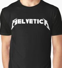 Helvetica (Metallica Parody) Graphic T-Shirt