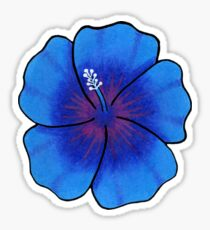 Blue Hibiscus Sticker
