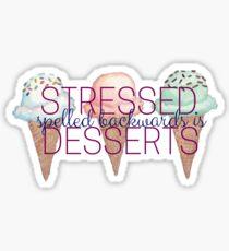 Gestresste Dinkel nach hinten ist Desserts Ice Cream Cones Sticker