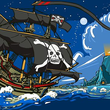 The Pirate's Ship by aurielaki