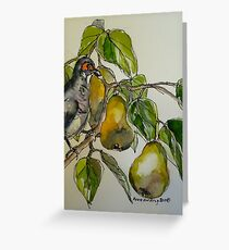 Partridge in a pear tree. Elizabeth Moore Golding 2011 Greeting Card