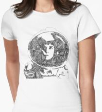 Ellen Ripley Pencil Portrait (Graphic T-shirt) Womens Fitted T-Shirt