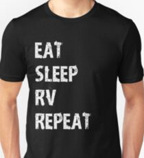 Eat Sleep RV Repeat T-Shirt Gift For Camping Camper Cute Funny T Shirt Tee  T-Shirt