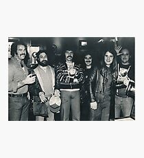 Hotel Bar in Kansas City Holiday Inn. The Band Rehydrating after the Gig. Photographic Print