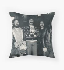 Hotel Bar in Kansas City Holiday Inn. The Band Rehydrating after the Gig. Throw Pillow