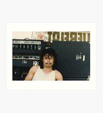 Drummer 'Philthy Animal' Phil Taylor Art Print