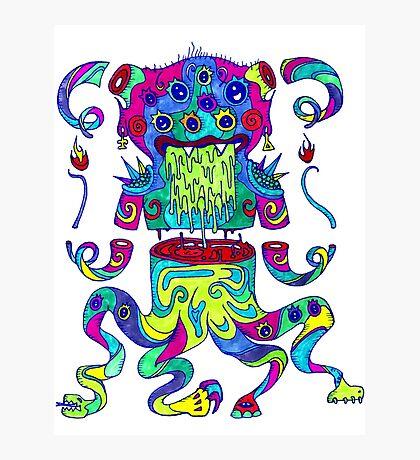Sliced Monster Photographic Print