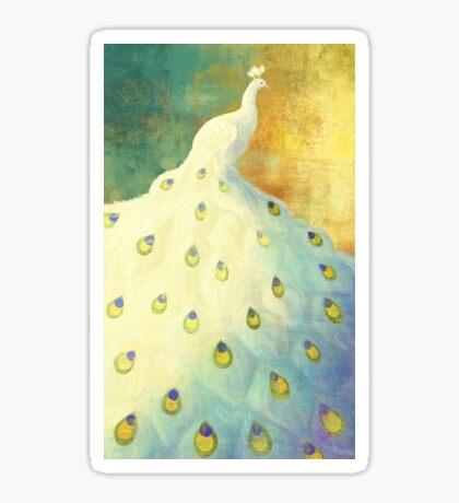 White Peacock Sticker