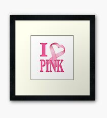 I Heart Pink Framed Print