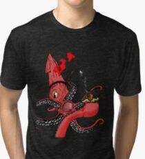 Squid Fight Tri-blend T-Shirt