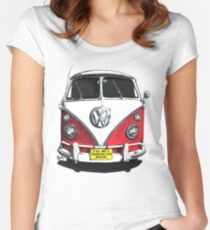 IF THE VAN IS A ROCKIN...  Women's Fitted Scoop T-Shirt