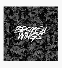 Broken Wings - Black & White Photographic Print