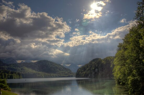 Forggensee Lake Schwangau Germany by ramiromarquez