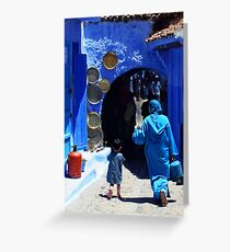 The Blue City II Greeting Card