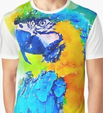 Blue Feathers Graphic T-Shirt