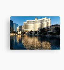 Blue Sky and Sunshine - Reflecting on Bellagio Las Vegas Canvas Print