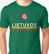 Lithuanian Lietuvos National Soccer & Sport Unisex T-Shirt