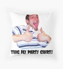 Bobby party Throw Pillow