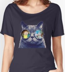 Rick and Morty Cat Women's Relaxed Fit T-Shirt