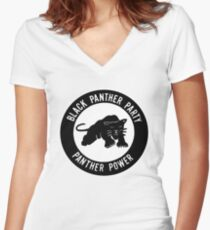 The Power of Black is Panther Women's Fitted V-Neck T-Shirt