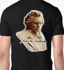 Beethoven, Ludwig van Beethoven, German, composer, pianist. on Black Unisex T-Shirt