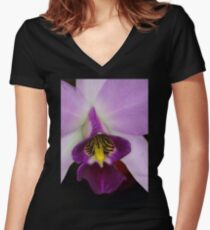 Pinky Purple  Women's Fitted V-Neck T-Shirt