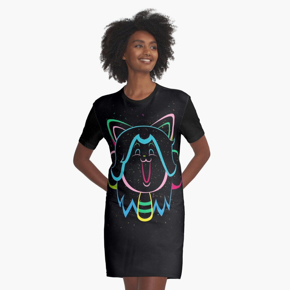 Temmie Flake Tripout Graphic T-Shirt Dress Front