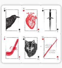 Pegatina Seis de Cuervos - Rojo