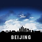 Beijing China Skyline Cityscape at Nightfall by T-ShirtsGifts